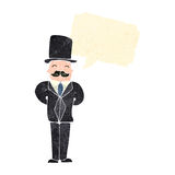 Retro cartoon rich victorian gentleman Stock Image