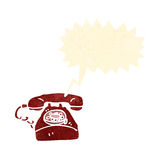 Retro cartoon ringing telephone Royalty Free Stock Photos