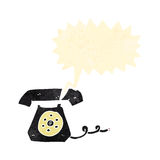 Retro cartoon ringing telephone Stock Photography