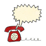 Retro cartoon ringing telephone Royalty Free Stock Photo