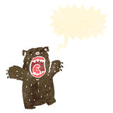 Retro cartoon roaring bear Stock Photography