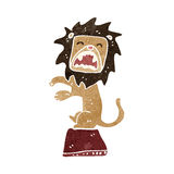 Retro cartoon roaring lion Royalty Free Stock Image