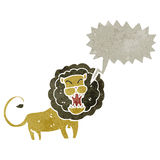 Retro cartoon roaring lion Royalty Free Stock Images