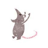 retro cartoon roaring mouse royalty free illustration