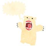 retro cartoon roaring polar bear Stock Image