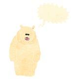 retro cartoon roaring polar bear Stock Photography