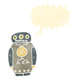 Retro cartoon robot Royalty Free Stock Photos