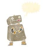 retro cartoon robot Stock Image