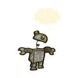 Retro cartoon robot Royalty Free Stock Image