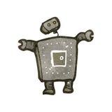 Retro cartoon robot Stock Photos