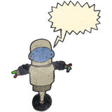 Retro cartoon robot cyborg Stock Photos
