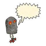 Retro cartoon robot head with speech bubble Royalty Free Stock Photography