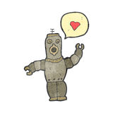 Retro cartoon robot in love Royalty Free Stock Images
