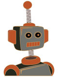 Retro cartoon robot portrait chunky lines Royalty Free Stock Photos