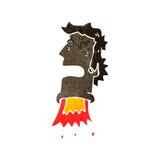Retro cartoon rocket head Royalty Free Stock Photography