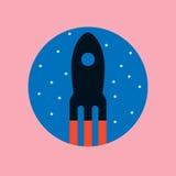 Retro cartoon rocket icon. Vector EPS10 Stock Photos