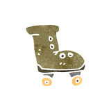 Retro cartoon roller boot Stock Photography