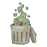 Retro cartoon rubbish bin Royalty Free Stock Images