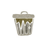 Retro cartoon rubbish bin Stock Images