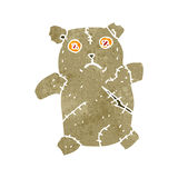 Retro cartoon sad toy teddy bear Stock Photography