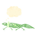 Retro cartoon salamander Royalty Free Stock Photography