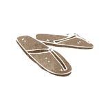Retro cartoon sandals Royalty Free Stock Image