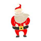 Retro cartoon santa claus Royalty Free Stock Images
