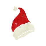 Retro cartoon santa hat Royalty Free Stock Photo