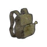 Retro cartoon satchel. Retro cartoon with texture. Isolated on White Stock Images