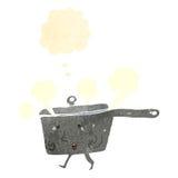 Retro cartoon saucepan Royalty Free Stock Photo