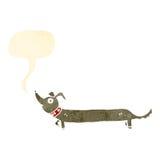 Retro cartoon sausage dog Stock Photo