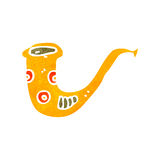 retro cartoon saxophone Royalty Free Stock Photo