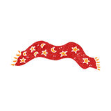 Retro cartoon scarf Stock Image