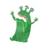 retro cartoon scary alien monster Stock Photography