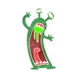 retro cartoon scary alien monster Stock Image