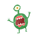 retro cartoon scary alien monster Stock Image