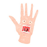 retro cartoon scary possessed hand Royalty Free Stock Image
