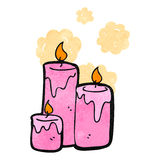 Retro cartoon scented candles Stock Photos