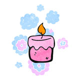 Retro cartoon scented candles Royalty Free Stock Photography