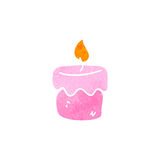 Retro cartoon scented candles Royalty Free Stock Photo