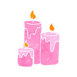 Retro cartoon scented candles Royalty Free Stock Images