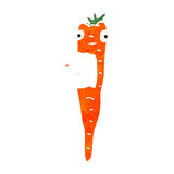 Retro cartoon screaming carrot Royalty Free Stock Image