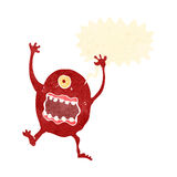 Retro cartoon screaming monster Royalty Free Stock Images