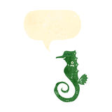 Retro cartoon sea horse Royalty Free Stock Photography