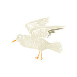 Retro cartoon seagull Royalty Free Stock Images