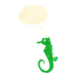 Retro cartoon seahorse Stock Photography