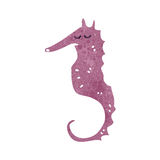 Retro cartoon seahorse Royalty Free Stock Photography