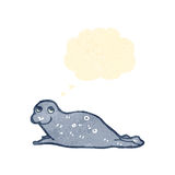 Retro cartoon seal pup Stock Image
