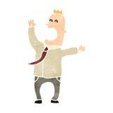 Retro cartoon self important office guy Royalty Free Stock Image