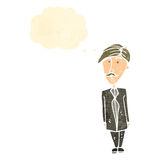 Retro cartoon sensible businessman Royalty Free Stock Images